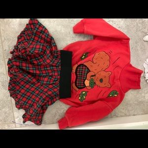 PattyCakes Brand Fall 2 piece circle skirt/top 2T
